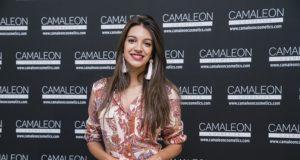 Ana Guerra durante la presentación de Camaleon Cosmetics.