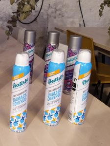 Batiste Dry Shampoo & Damage Control.